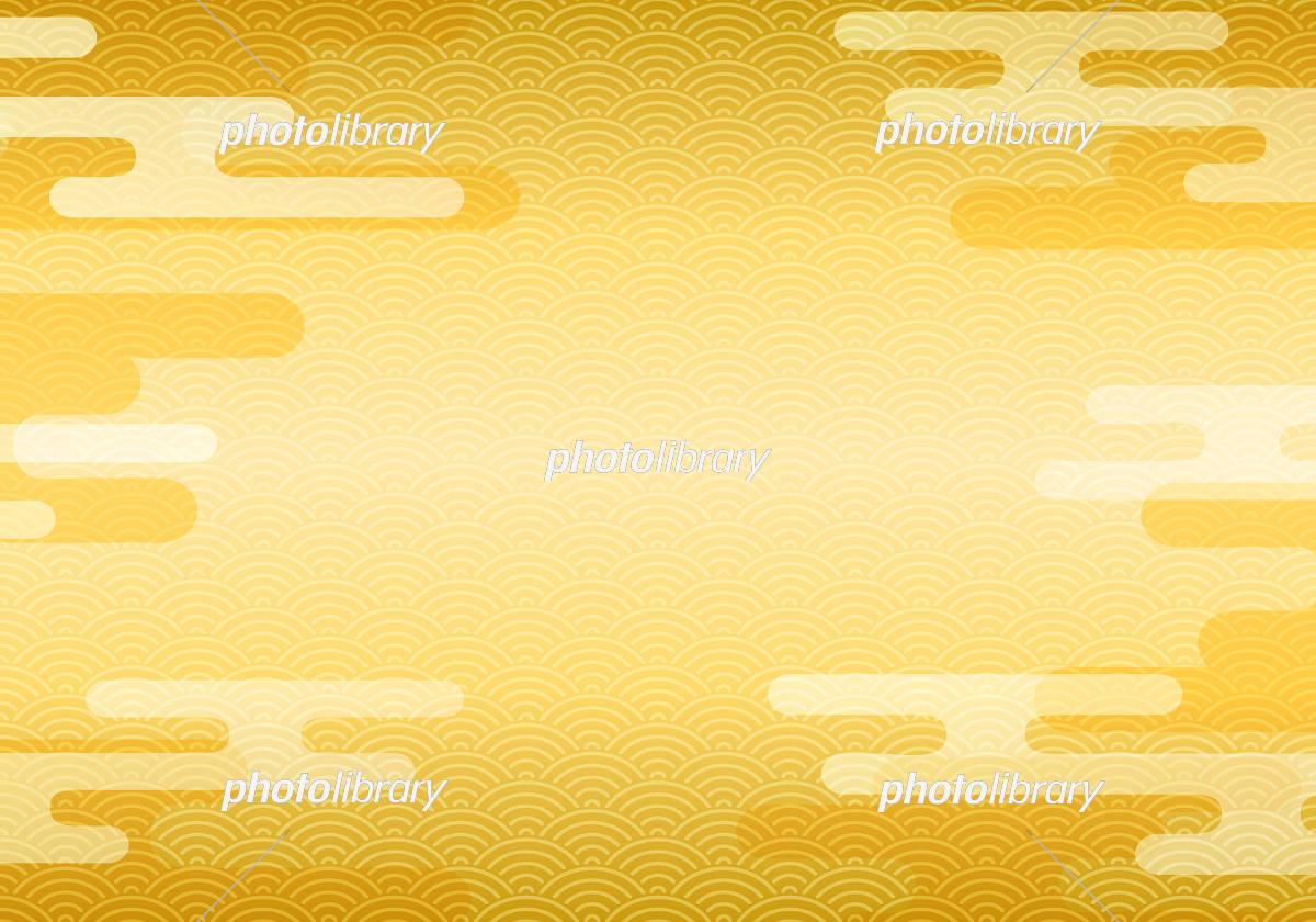 和柄と雲の背景素材 イラスト素材 [ 5716549 ] - フォトライブラリー