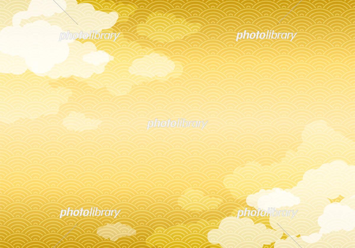 和柄と雲の背景素材 イラスト素材 [ 5716550 ] - フォトライブラリー