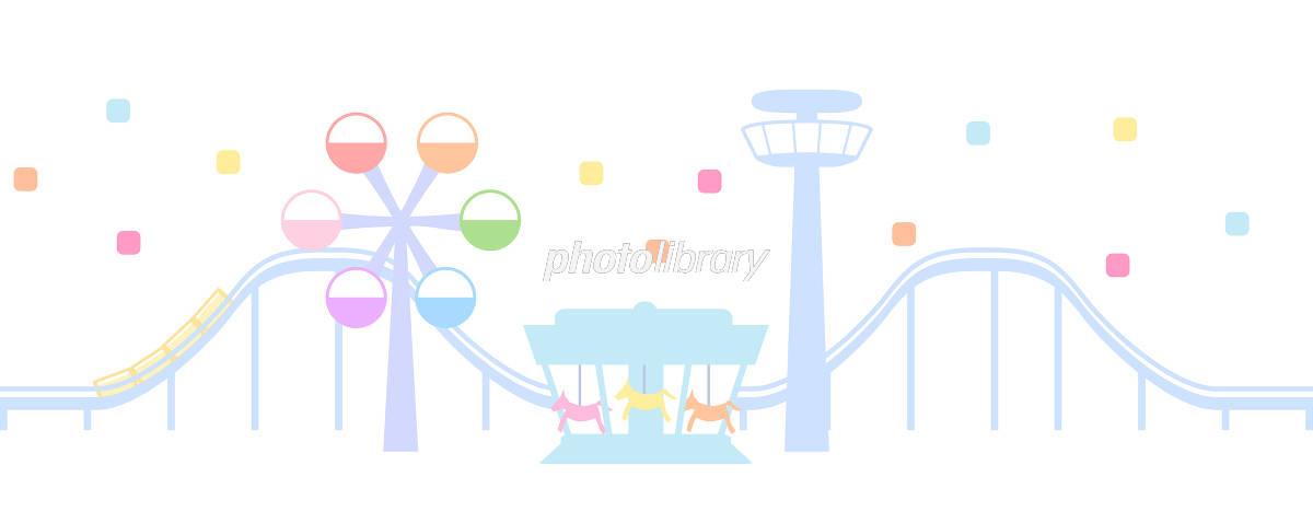 遊園地のイラスト 白背景 イラスト素材 5718787 フォトライブ
