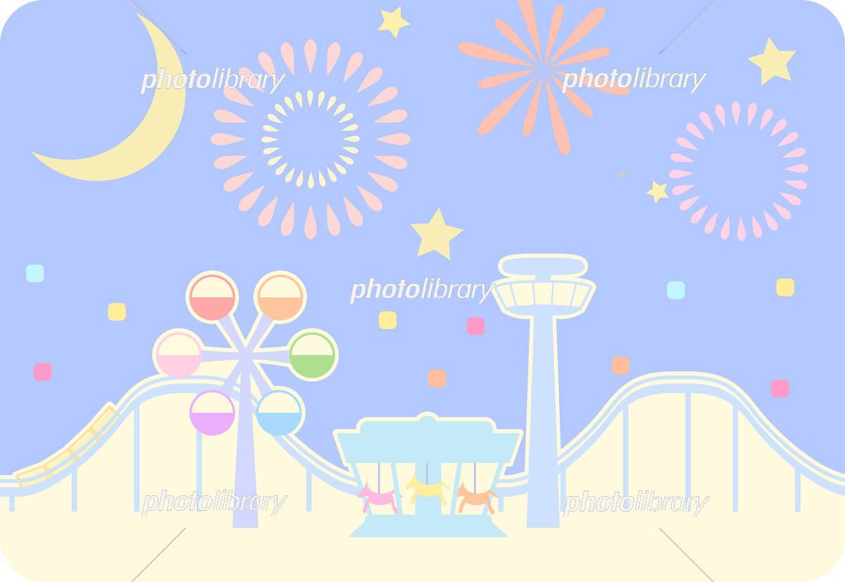 夜の遊園地のイラスト イラスト素材 5718795 フォトライブラリー
