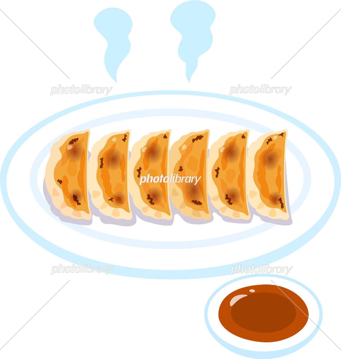 焼き餃子とタレ イラスト素材 5719323 フォトライブラリー