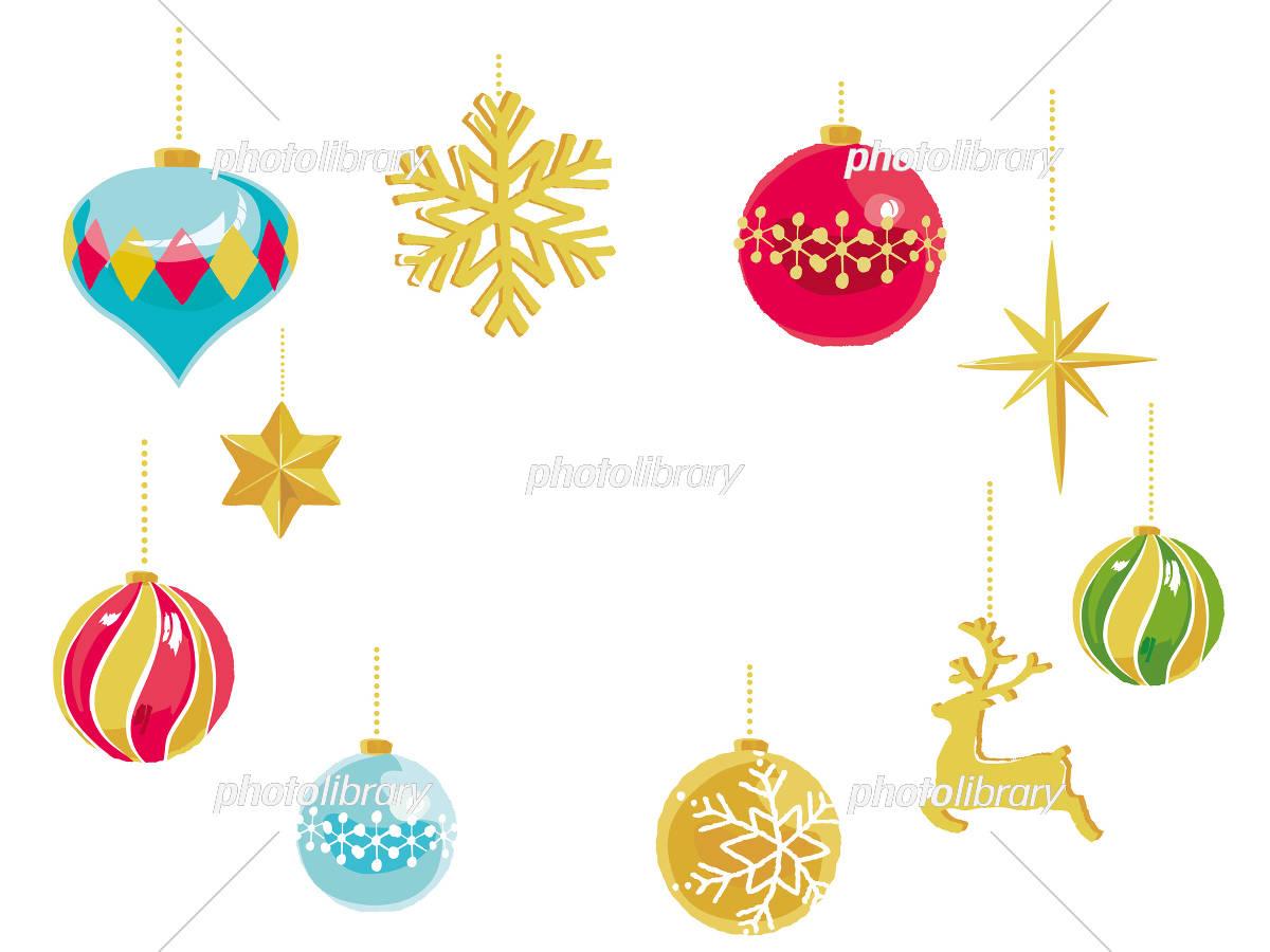 クリスマスオーナメント フレーム イラスト素材 [ 5775860