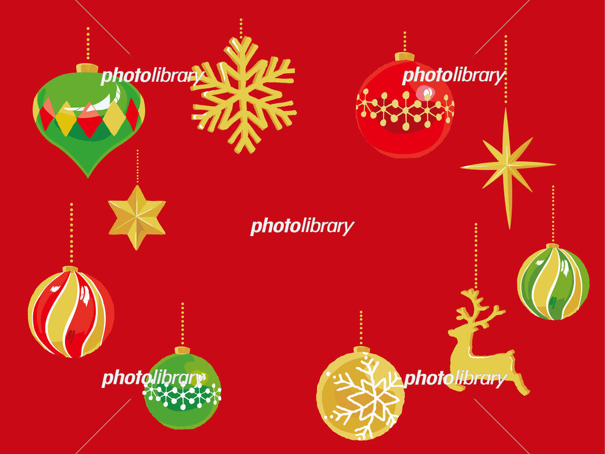 クリスマスオーナメント フレーム イラスト素材 フォトライブラリー Photolibrary