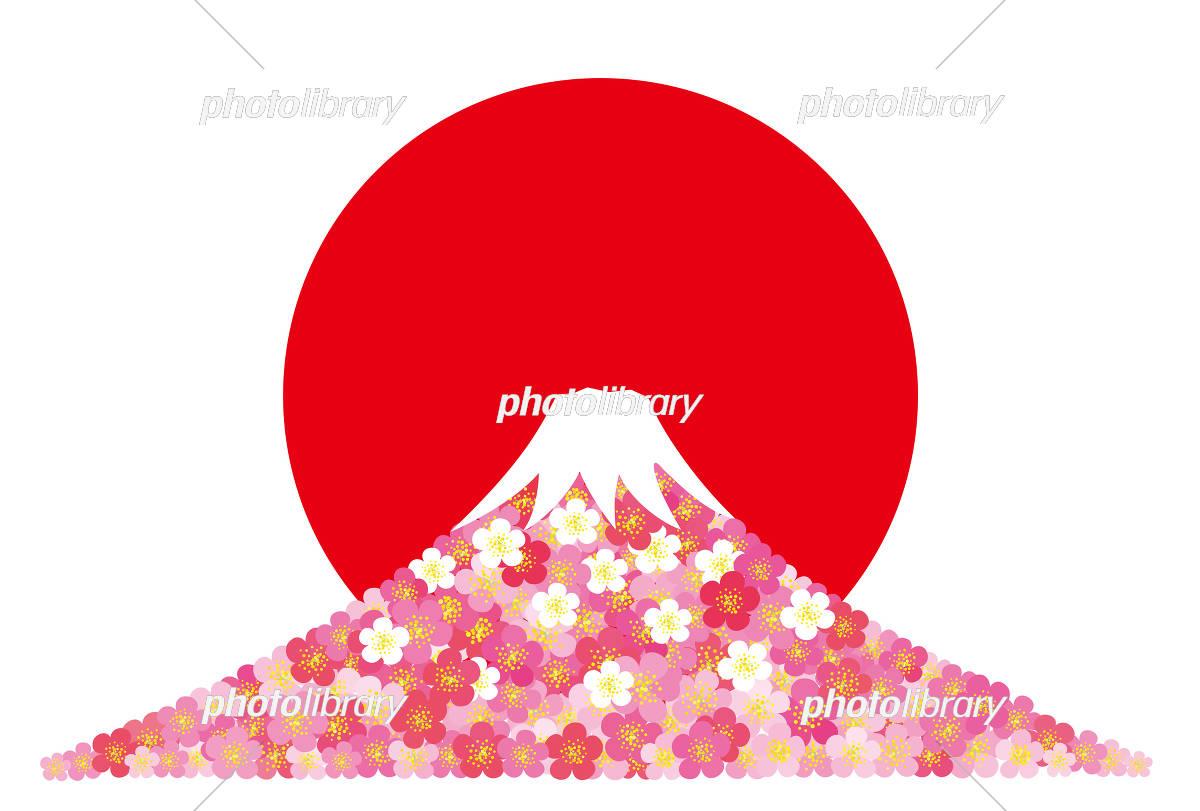 年賀 梅 富士山 イラスト素材 5805232 フォトライブラリー
