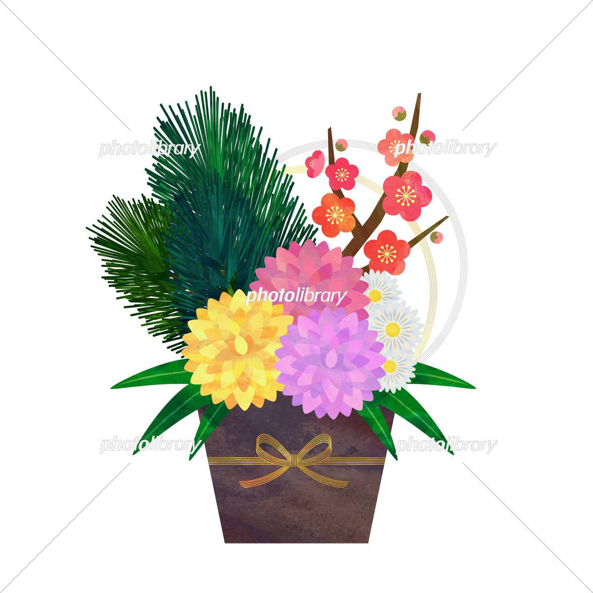 正月飾り 花 イラスト素材 5808132 フォトライブラリー Photolibrary