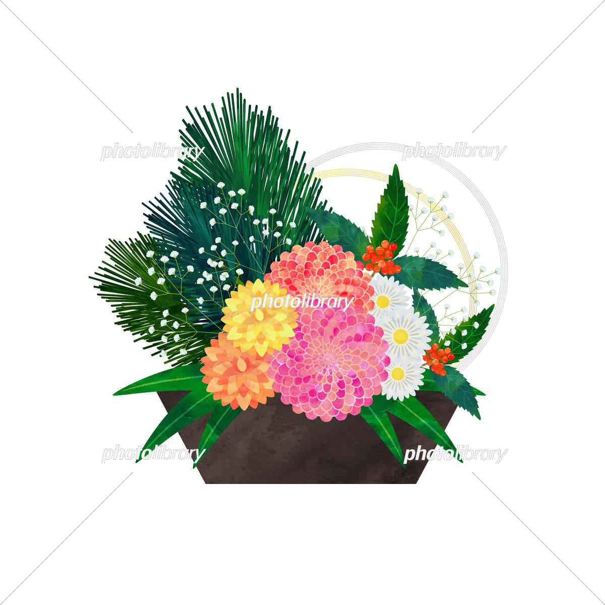 正月飾り 花 イラスト素材 5810819 フォトライブラリー Photolibrary