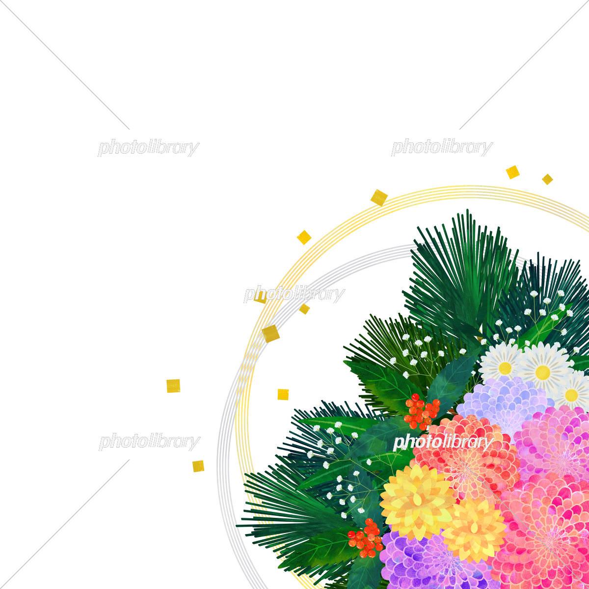 正月飾り 花 イラスト素材 5810820 フォトライブラリー Photolibrary