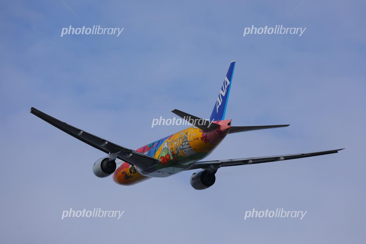 飛行機 旅客機 Ana 航空機 ドルフィン 写真素材 フォトライブラリー Photolibrary