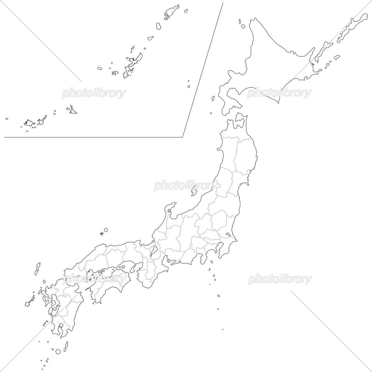 日本地図 白地図 フリー 都道府県