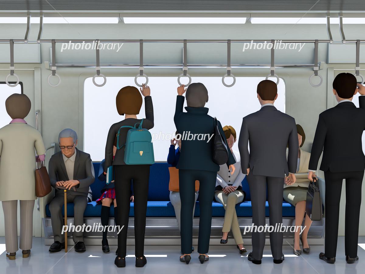 電車と乗客 イラスト素材 [ 6226973 ] - フォトライブラリー photolibrary