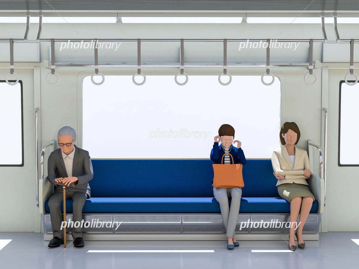 電車と乗客 イラスト素材 [ 6226975 ] - フォトライブラリー photolibrary