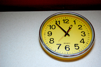 Yellow wall clock Stock photo [264117] Watch