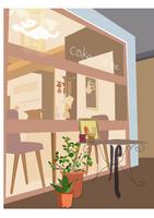 Cafe window Stock photo [424747] Cafe