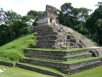 Mexico Palenque ruins cross of temple Stock photo [425120] World