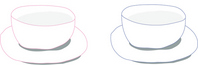 Pink and blue pair cup Stock photo [425307] Pair