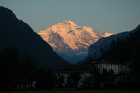Jungfrau from Interlaken Stock photo [430127] Interlaken
