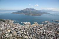 Kagoshima city and Sakurajima Stock photo [430331] Kagoshima