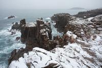 Of snowstorm Tojinbo Stock photo [720613] Tojinbo