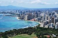 Waikiki of town you have seen from the Diamond Head Stock photo [723601] Hawaii