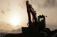 Sunset and heavy equipment Stock photo [725325] Heavy