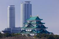 Nagoya Castle JR Central Towers Stock photo [727463] Nagoya