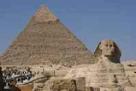 The Sphinx and pyramids Stock photo [728070] Pyramid