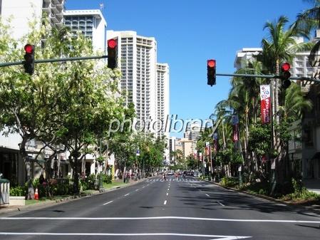 ハワイのカラカウア通り 写真素...