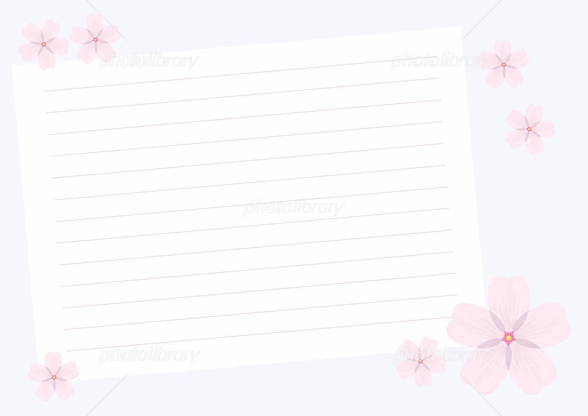 桜の便箋 イラスト素材 965056 フォトライブラリー Photolibrary