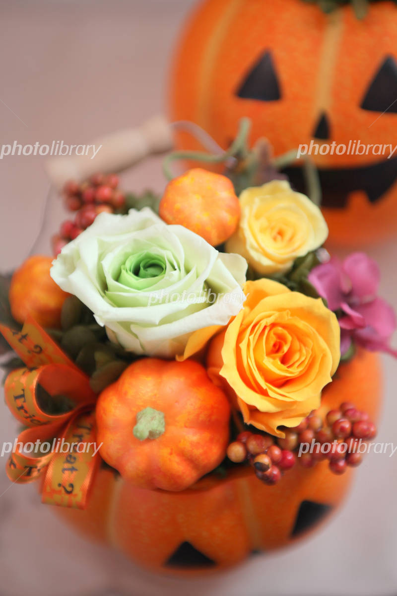 Halloween Flower Pot Photo
