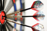 Hat trick in darts Stock photo [957586] Darts