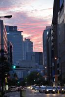 Yodoyabashi around dusk Stock photo [958158] Osaka