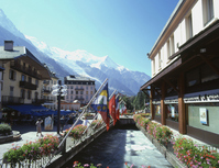Mont Blanc seen from Chamonix town Stock photo [963308] Arve