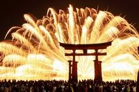 Miyajima of fireworks Stock photo [963371] Miyajima