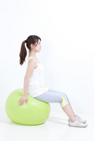 Balance ball woman Stock photo [964473] Female