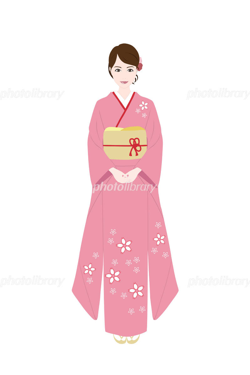 着物を着た女性 イラスト素材 1073698 フォトライブラリー