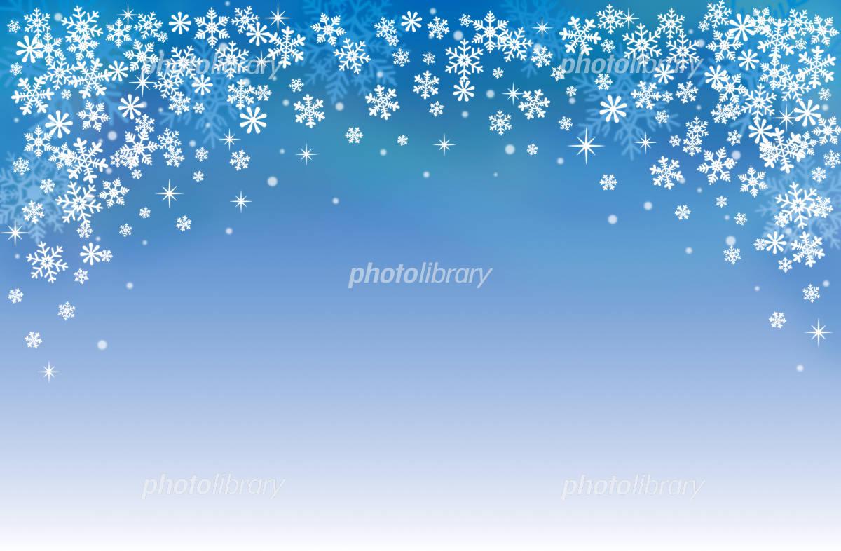 冬の背景素材?空に輝く雪の花? イラスト素材 [ 1073818 ] - フォト