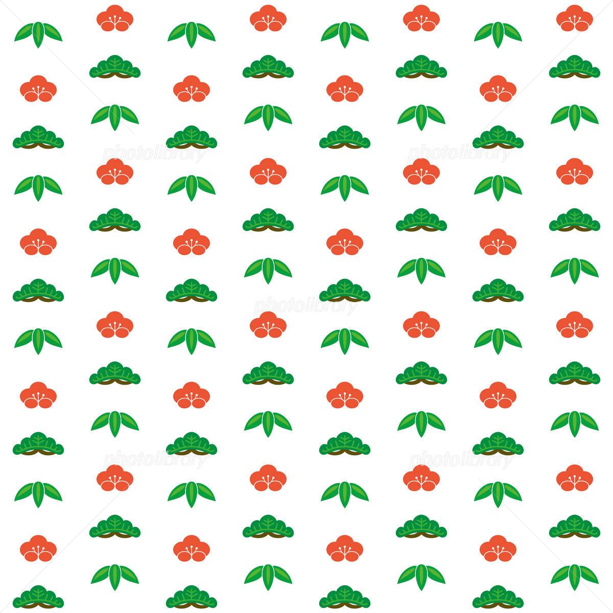 松竹梅の壁紙 イラスト素材 1076217 フォトライブラリー