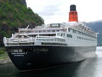 Luxury liner Queen Elizabeth II issue of Norway fjord Stock photo [1079289] Norway