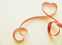 Of red ribbon Heart Stock photo [1079866] Red