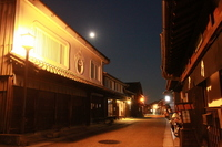 Important Cultural post town and full moon Stock photo [1080555] Sekiyado