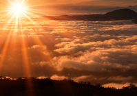 Sea of clouds sunrise Stock photo [1082192] Clouds