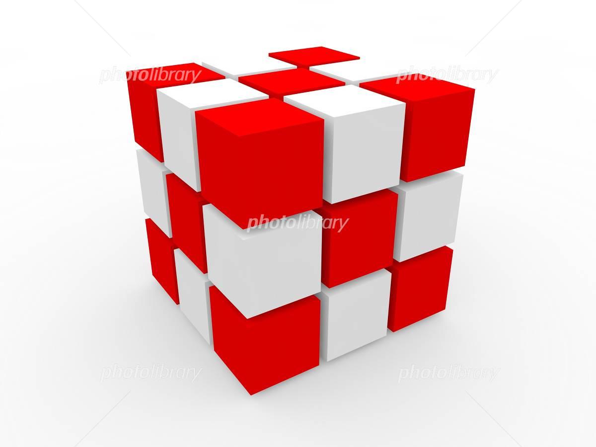 紅白のルービックキューブ イラスト素材 1181766 フォトライブ