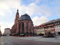 Germany Heidelberg Church of the Holy Spirit and the Grote Markt Stock photo [1187023] Europe