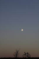 Moon and bicycle Stock photo [1189570] Moon
