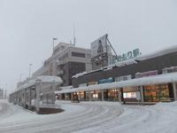 Winter early morning, snow of Aomori Station Stock photo [1192927] Winter