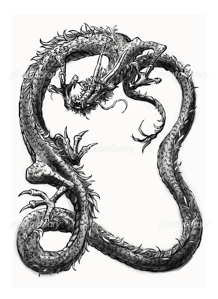 竜の水墨画 イラスト素材 1282107 フォトライブラリー Photolibrary