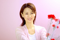 The carnation on Mother's Day Stock photo [1279246] Female