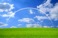 Grassland and rainbow Stock photo [1280801] Prairie