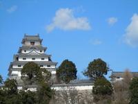 Saga blue sky and Karatsu Castle. Kyushu