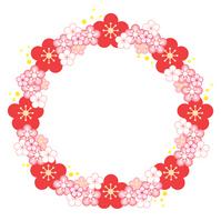 Round frame of plum flowers [1287668] Plum